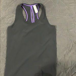 Ivivva black tank with purple trim